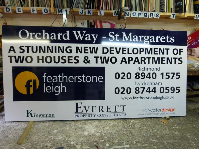 Example of hoarding panel in workshop Orchard Way - St Margarets