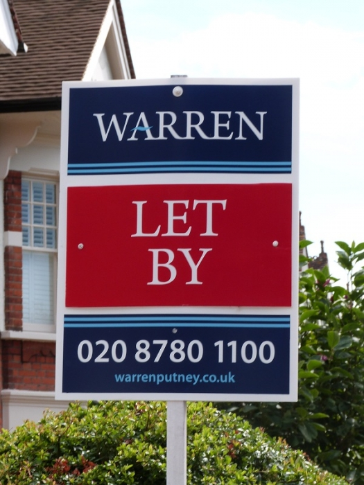 Portrait estate agent board - Warren T-Board - Warren / Let By