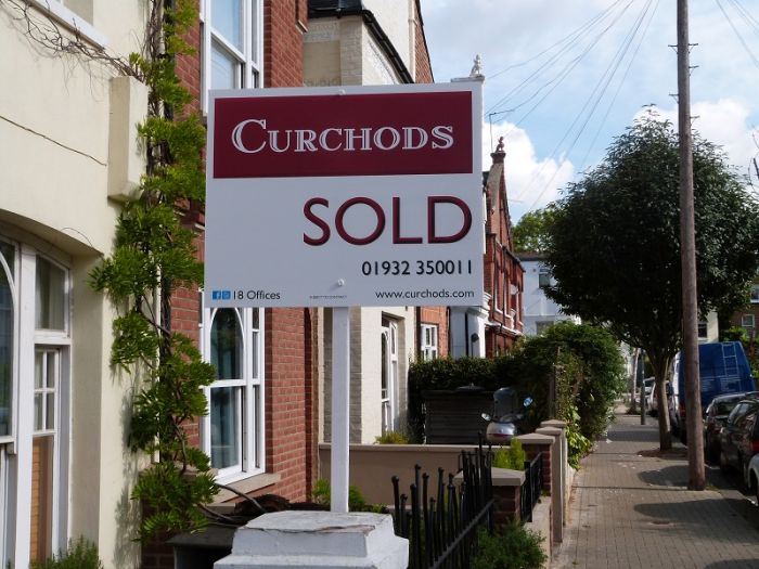 Landscape estate agent board - Curchods Correx sign board