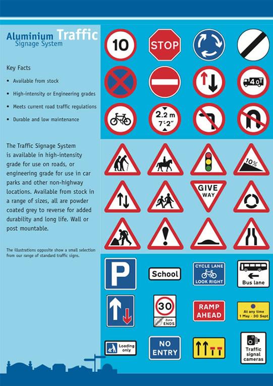 Aluminium Traffic Signage System