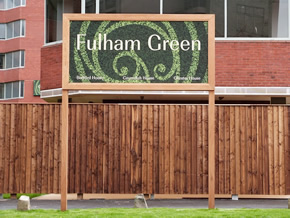 Fulham Green Illuminated Entrance Sign