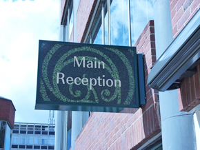 Fulham Green Reception Light Box