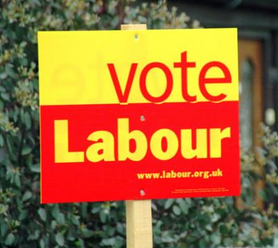 Vote Labour Sign Political campaign board