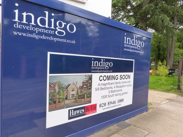 Digitally Printed Dibond with Vinyl Graphics Indigo Developments Construction Hoarding