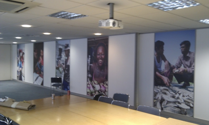 Full colour wall photos printed on dibond  Wall Graphics for VSO