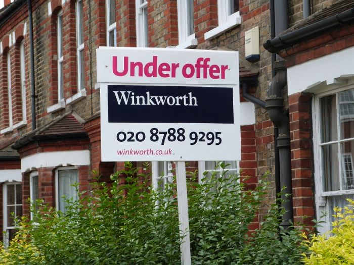 Landscape estate agent board - Winkworth Winkworth Under Offer