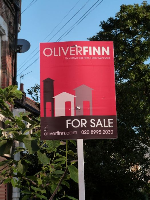 Portrait estate agent board - Oliver Finn
