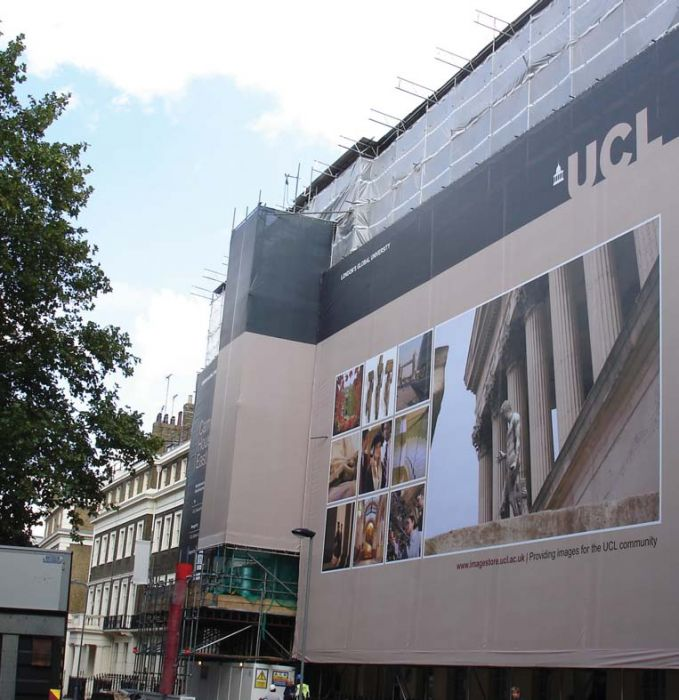 Giant Outdoor Scaffold Banner - UCL Giant Outdoor Scaffold Banner - UCL