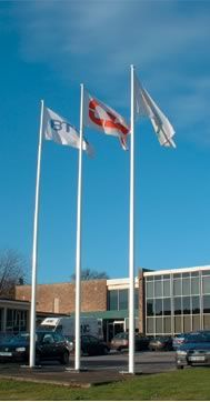 Large corporate flagpoles Large corporate flagpoles