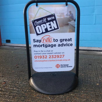 Mortgage Advice Bureau Pavement Swing Sign