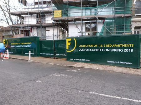 Foxtons Construction Hoarding