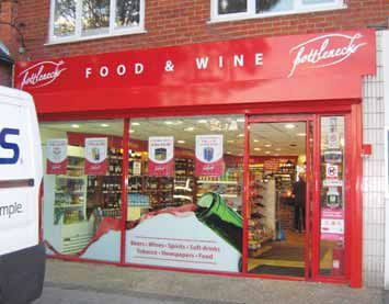 Shop fascia - Food & wine merchant