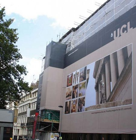 Giant Outdoor Scaffold Banner - UCL