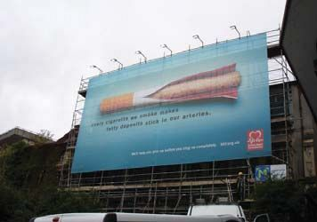 Giant Outdoor Scaffold Banner - BHF